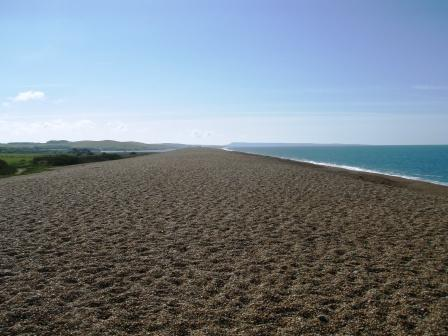 Dorset's Heritage Coast curves east towards Portland on the Chesil Bank at Abbotsbury