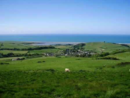 Abbotsbury, The Fleet and Dorset's Heritage Coast from the Dorset Coast Path.